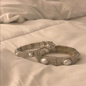 Jewelry - Pearl and Silver bracelets